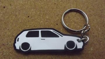 Porta Chaves com silhueta de Volkswagen Golf III / MKIII