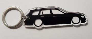 Porta Chaves de Acrílico com silhueta de BMW E91 Touring
