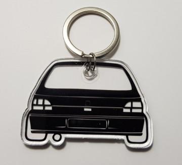 Porta Chaves de Acrílico com silhueta de Clio 1 traseira