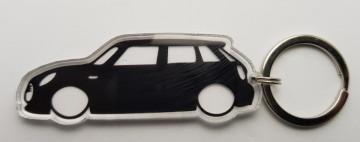 Porta Chaves de Acrílico com silhueta de Mini Cooper 5P