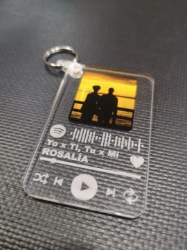 Porta chaves em acrílico - A tua música
