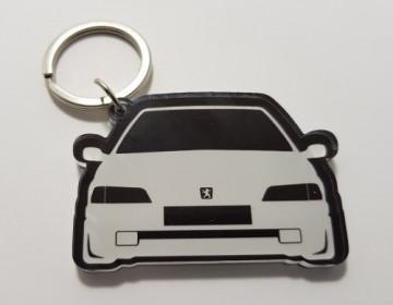 Porta chaves em acrílico com silhueta Peugeot 106 (MKI)
