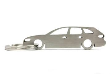 Porta Chaves em inox com silhueta com Audi A4 B8 wagon