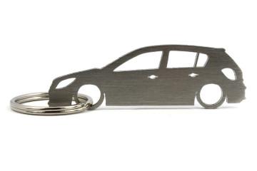 Porta Chaves em inox com silhueta com Opel Astra H
