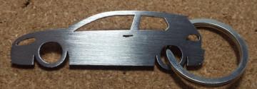 Porta Chaves em inox com silhueta com Volkswagen Golf VII
