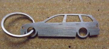 Porta Chaves em inox com silhueta da Bmw E46 Touring