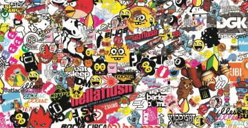 Sticker Bomb - Hellaflush  - 48x24