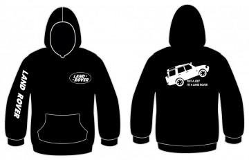 Sweatshirt com capuz com Not a jeep, Its a land rover