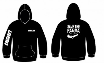 Sweatshirt com capuz com Save the Panda