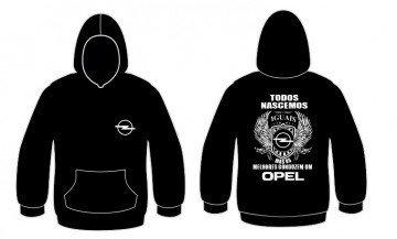 Sweatshirt com capuz Todos Nascemos (Opel)