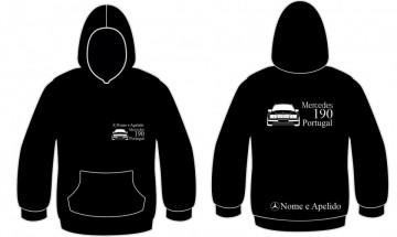 Sweatshirt com Mercedes 190 Portugal + nome