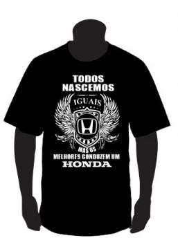 T-shirt com Todos Nascemos Iguais (Honda)