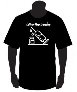 T-shirt Estou Vacinada