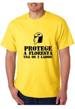 T-shirt  - Protege a Floresta USA os 2 Lados