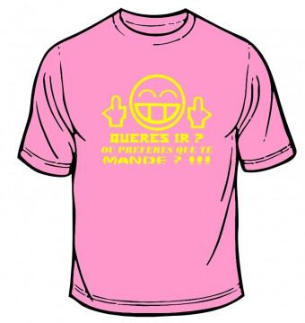 T-shirt  - Queres ir ou preferes que te mande?