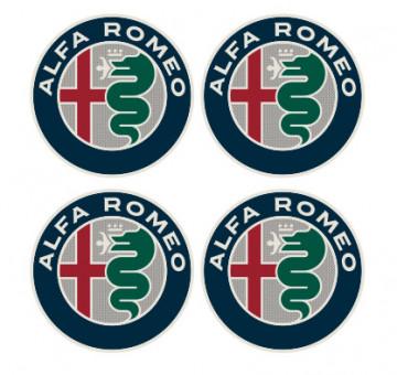 4 Autocolantes Para Centros de Jantes com Alfa Romeo