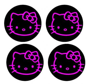 4 Autocolantes Para Centros de Jantes com Hello Kitty