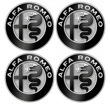 4 Autocolantes Para Centros de Jantes para Alfa Romeo