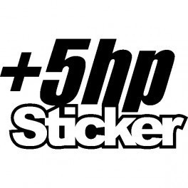 Autocolante - +5hp Sticker