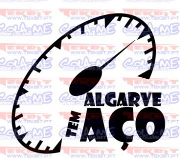 Autocolante - Algarve tem aço