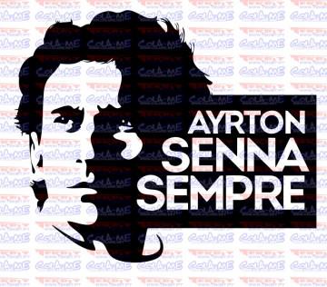 Autocolante - Ayrton Senna Sempre