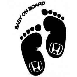Autocolante - Baby On Board Honda