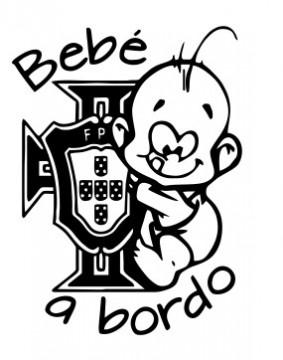 Autocolante - Bebé a bordo com Federação - Portugal
