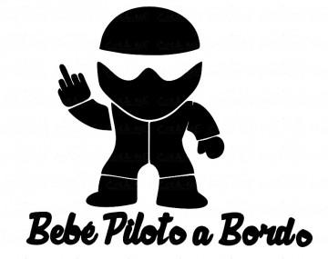Autocolante - Bebé piloto a bordo