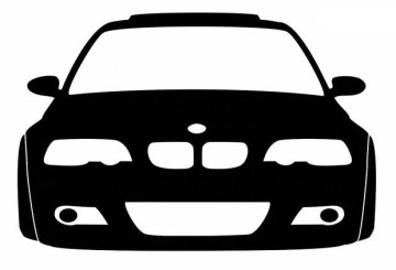 Autocolante - BMW M3 (e46) - Frente