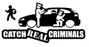 Autocolante - Catch Real Criminals com Seat Ibiza 6L