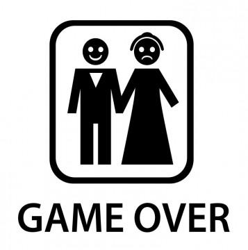Autocolante com Game Over