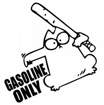 Autocolante com Gasoline Only