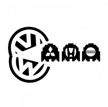 Autocolante com Pac man VW marcas