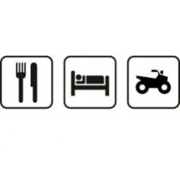 Autocolante - Comer Dormir Moto 4