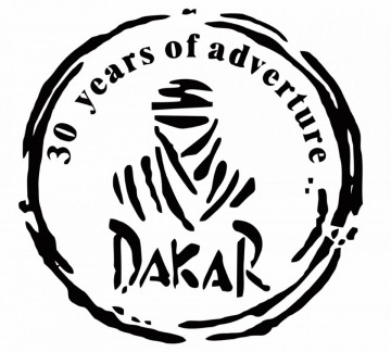 Autocolante - Dakar 30 years of adventure...
