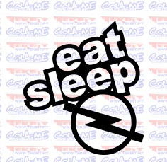 Autocolante - Eat Sleep Opel