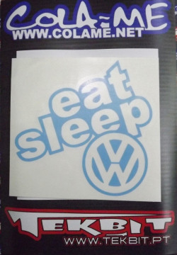 Autocolante - Eat Sleep VW