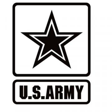 Autocolante - Estrela com U.S.ARMY