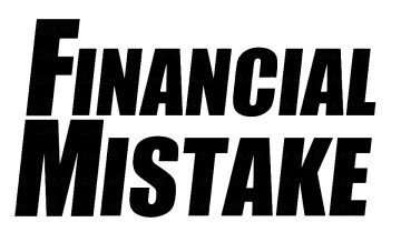 Autocolante - Financial mistake