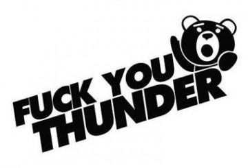 Autocolante - Fuck You Thunder