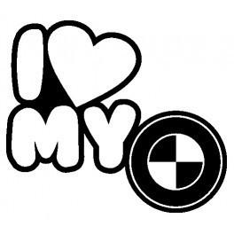 Autocolante - I Love My BMW