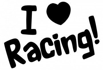Autocolante - I love Racing