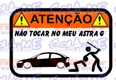 Autocolante Impresso - Não tocar no meu Opel Astra G Coupe