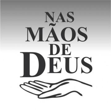 Autocolante - Nas mãos de deus