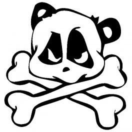 Autocolante - Panda Caveira