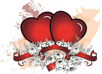 Autocolante para Portátil - Corações e Flores 2