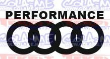 Autocolante - Performance Audi