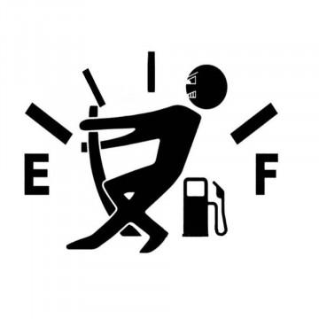 Autocolante - Puxar ponteiro combustível