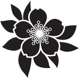 Autocolante - Rosas Padrão Floral