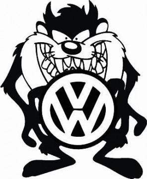 Autocolante - Taz Volkswagen